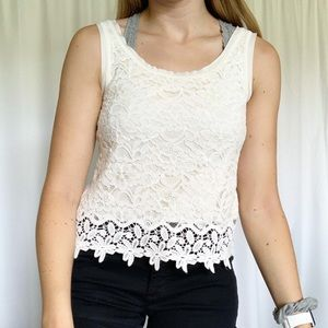 Lace Mossimo Tank Top